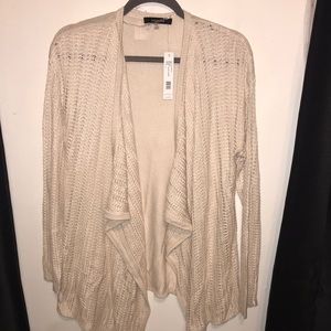 NWT August Silk crocheted cardigan